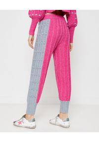 LOVE SHACK FANCY - Wełniane spodnie Landana. Kolor: szary. Materiał: wełna. Wzór: napisy. Sezon: wiosna