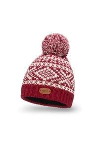 PaMaMi - Zimowa czapka z polarem - Bordowy. Kolor: czerwony. Materiał: poliamid, akryl. Sezon: zima