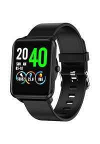 Czarny zegarek Bemi sportowy, smartwatch