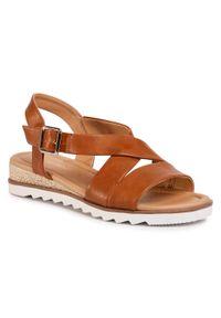 Brązowe sandały Clara Barson casualowe, na co dzień