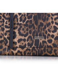 Brązowa torebka worek Wittchen w kolorowe wzory, elegancka #5