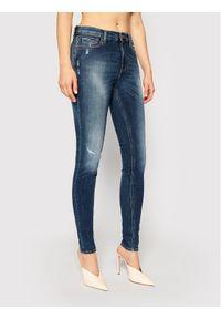 Tommy Jeans Jeansy Skinny Fit Nora DW0DW09023 Granatowy Skinny Fit. Kolor: niebieski