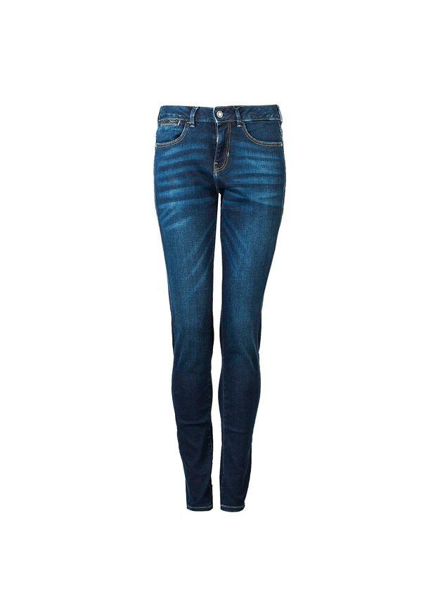 """Guess Jeansy """"Ultra Skinny Mid"""". Materiał: jeans. Wzór: aplikacja"""