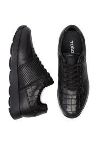 Czarne sneakersy Togoshi na co dzień, z cholewką