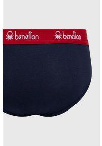 United Colors of Benetton - Slipy. Kolor: niebieski. Materiał: bawełna