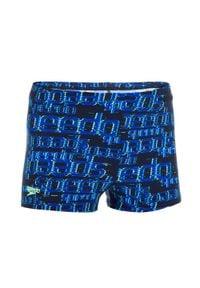 Speedo - Bokserki Pływackie Wzorzyste Dla Dzieci. Kolor: niebieski. Materiał: poliester, materiał