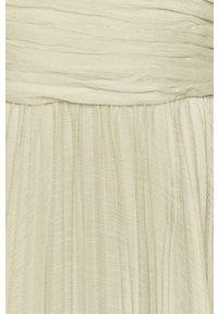 Zielona sukienka Miss Sixty maxi, z włoskim kołnierzykiem