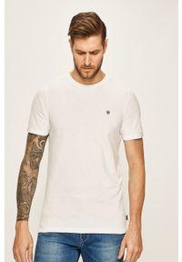 Premium by Jack&Jones - T-shirt. Okazja: na co dzień. Kolor: biały. Materiał: dzianina. Wzór: gładki. Styl: casual