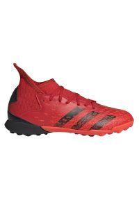 Adidas - Buty piłkarskie dla dzieci adidas Predator Freak.3 TF FY6314. Zapięcie: sznurówki. Materiał: syntetyk. Szerokość cholewki: normalna. Wzór: gładki. Sport: piłka nożna