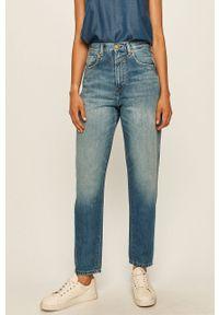 Niebieskie proste jeansy Pepe Jeans z podwyższonym stanem