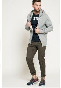 Niebieski t-shirt TOMMY HILFIGER casualowy, na co dzień, z nadrukiem