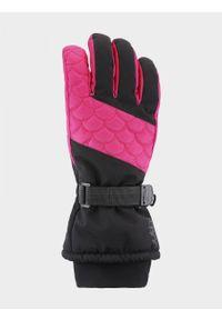 Różowe rękawiczki sportowe outhorn narciarskie