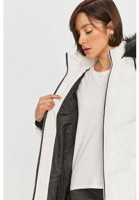 Biała kurtka Answear Lab na co dzień, z kapturem