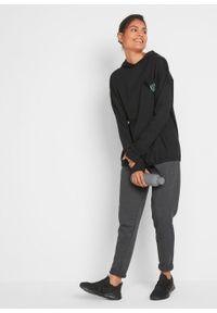 Shirt oversize z bawełny organicznej, długi rękaw bonprix czarny. Kolor: czarny. Materiał: bawełna. Długość rękawa: długi rękaw. Długość: długie