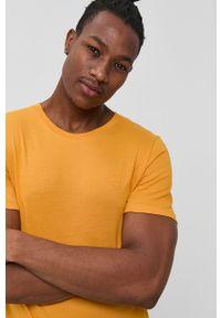 Jack & Jones - T-shirt bawełniany. Okazja: na co dzień. Kolor: pomarańczowy. Materiał: bawełna. Wzór: gładki. Styl: casual