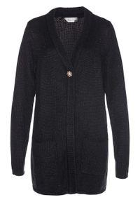 Czarny sweter bonprix długi, melanż