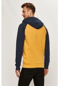 Żółta bluza rozpinana Quiksilver na co dzień, z kapturem, casualowa