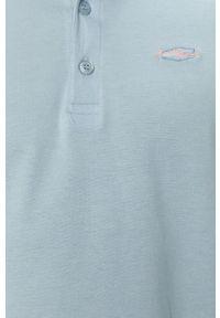 Niebieska koszulka polo Cross Jeans na co dzień, gładkie