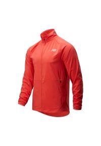 Pomarańczowa kurtka New Balance z dekoltem woda