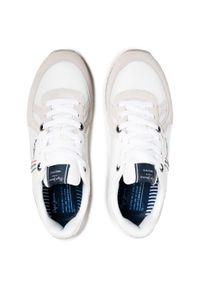 Pepe Jeans - Sneakersy PEPE JEANS - Tinker Zero 21 PMS30725 Factory White 801. Kolor: biały. Materiał: zamsz, materiał, skóra. Szerokość cholewki: normalna. Styl: klasyczny