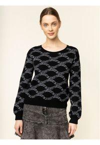 Czarny sweter klasyczny Emporio Armani