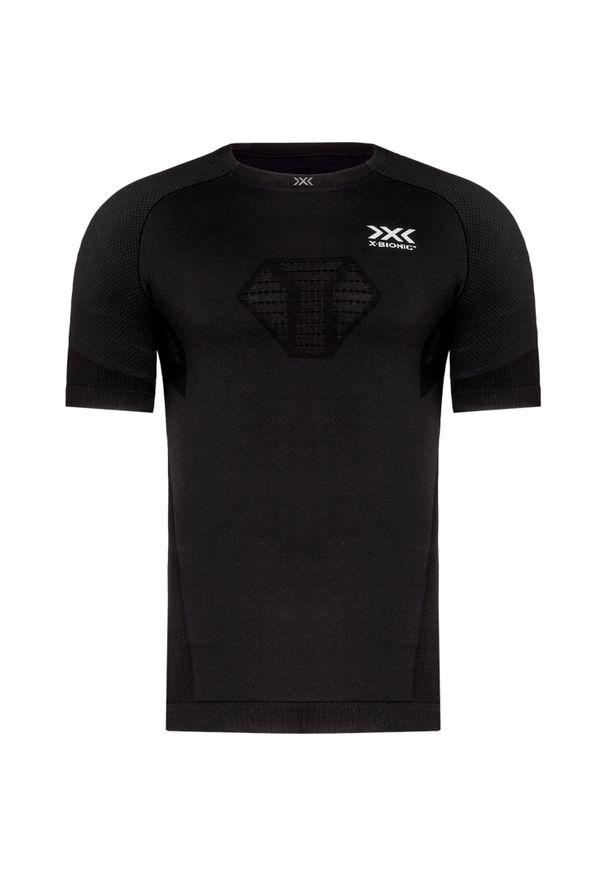 Czarna koszulka termoaktywna X-Bionic z asymetrycznym kołnierzem, do biegania, długa