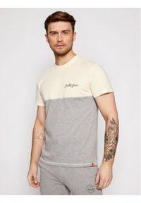 Jack & Jones - Jack&Jones T-Shirt Aidens 12187132 Żółty Regular Fit. Kolor: żółty