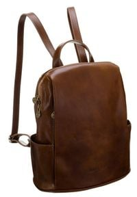Plecak w stylu vintage camel Badura T_D187CA_CD. Materiał: skóra. Styl: vintage