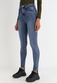 Born2be - Niebieskie Jeansy Skinny Lairinda. Stan: podwyższony. Kolor: niebieski. Długość: długie. Styl: klasyczny, elegancki