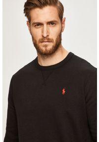 Polo Ralph Lauren - Bluza. Typ kołnierza: polo. Kolor: czarny. Materiał: dzianina