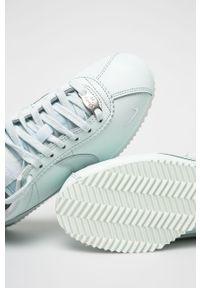 Miętowe buty sportowe Nike z okrągłym noskiem, z cholewką