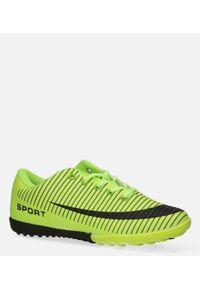 Casu - zielone buty sportowe orliki sznurowane casu 20m2/m. Kolor: wielokolorowy, zielony, czarny