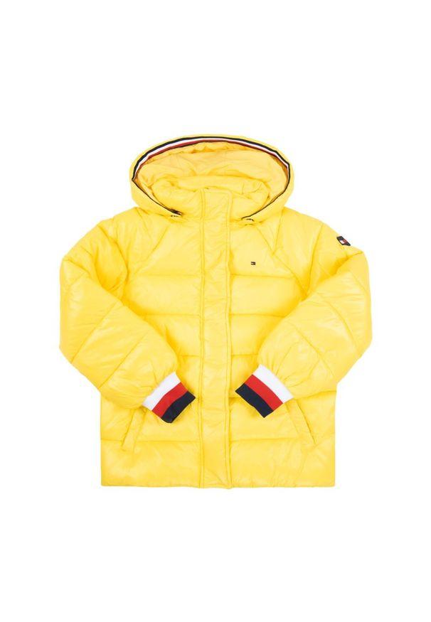 Żółta kurtka puchowa TOMMY HILFIGER