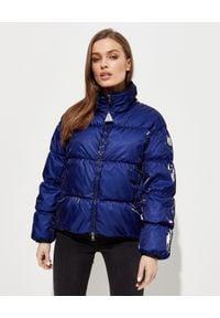 MONCLER - Niebieska kurtka puchowa Grenit. Kolor: niebieski. Materiał: puch. Długość rękawa: długi rękaw. Długość: długie