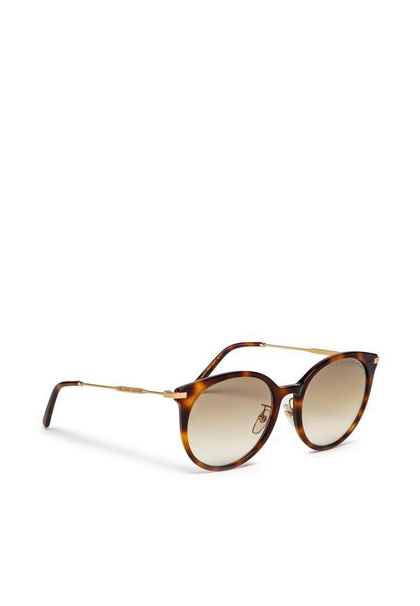 Okulary przeciwsłoneczne MARC JACOBS - 552/G/S Havana 086. Kolor: brązowy, wielokolorowy, złoty
