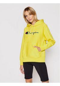 Champion Bluza Script Logo Reverse Weave 113149 Żółty Regular Fit. Kolor: żółty