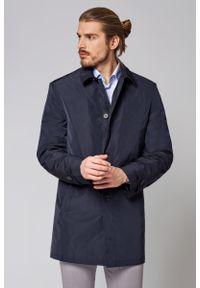 Niebieska kurtka Lancerto do pracy, klasyczna, na wiosnę