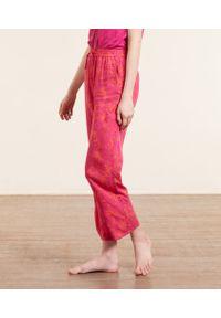 Bessy Wzorzyste Spodnie Od Piżamy 7/8 - L - Fuksja - Etam. Kolor: różowy