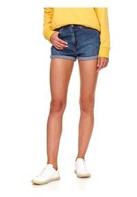 TOP SECRET - Jeansowe szorty. Kolor: niebieski. Materiał: jeans. Długość: krótkie. Sezon: lato. Styl: wakacyjny