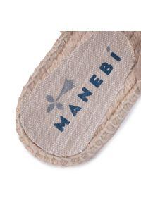 Brązowe klapki Manebi na co dzień, vintage