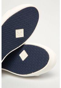 GANT - Gant - Tenisówki Leisha. Nosek buta: okrągły. Zapięcie: sznurówki. Kolor: biały. Materiał: guma