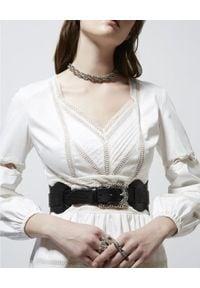 The Kooples - THE KOOPLES - Bawełniana sukienka mini. Typ kołnierza: dekolt w kształcie V. Kolor: biały. Materiał: bawełna. Wzór: koronka. Sezon: lato. Typ sukienki: rozkloszowane. Długość: mini