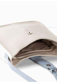 Beżowa torebka bonprix na ramię, skórzana