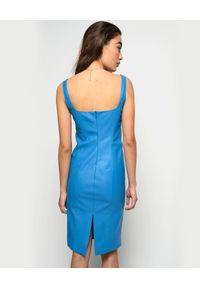 Niebieska sukienka Pinko midi, na imprezę