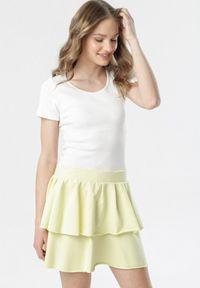 Żółta spódnica mini Born2be