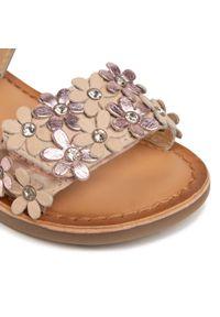 Różowe sandały Gioseppo na lato, na co dzień, casualowe, z aplikacjami