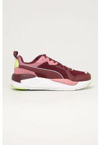 Fioletowe buty sportowe Puma z cholewką, na sznurówki
