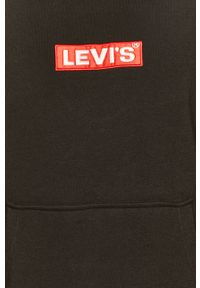 Czarna bluza nierozpinana Levi's® z kapturem, w kolorowe wzory, na spotkanie biznesowe, biznesowa