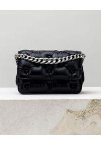 BENEDETTA BRUZZICHES - Czarna torebka Carmen Small. Kolor: czarny. Materiał: pikowane. Rodzaj torebki: na ramię