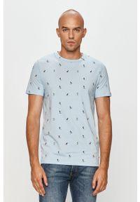 Niebieski t-shirt PRODUKT by Jack & Jones casualowy, na co dzień